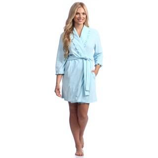Women's Pique Terry 36-inch Shawl Robe