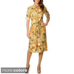 Escada Sport Women's Floral Linen Dress