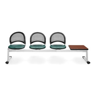 OFM Moon Series Teal Vinyl 3-seat Seating