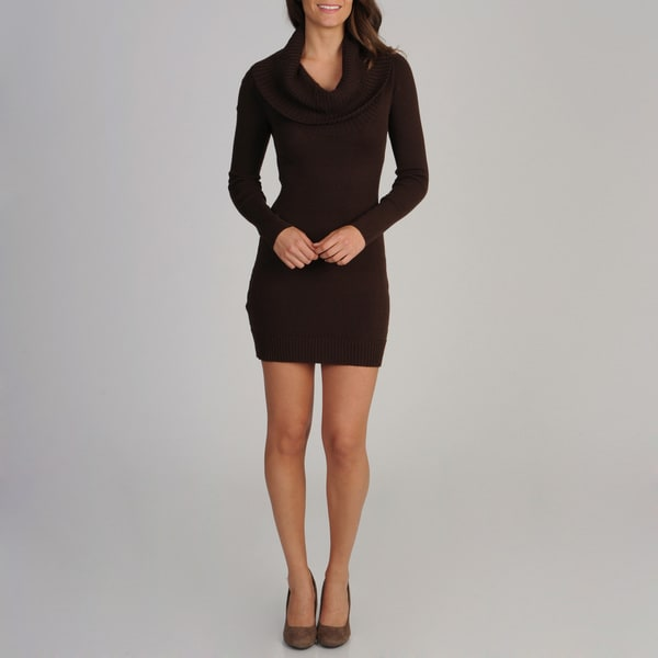 BCBGMaxazria Women's Cowl Neck Sweater Dress