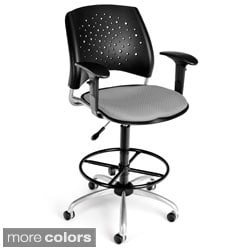 OFM Stars Series Drafting Stool with Arms