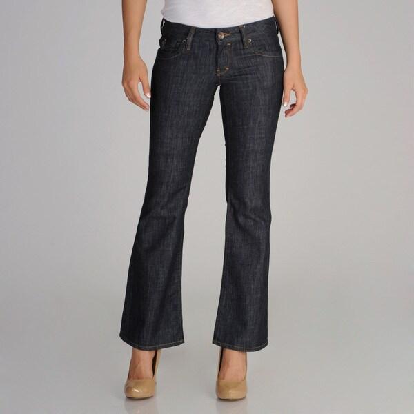 Mavi Women's Super Low-Rise Navy Flare Jeans