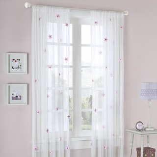 Mizone Taylor Flower Sheer Curtain Panel