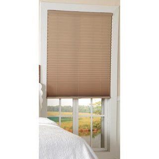 Light Filtering Taupe Cordless Pleated Shades
