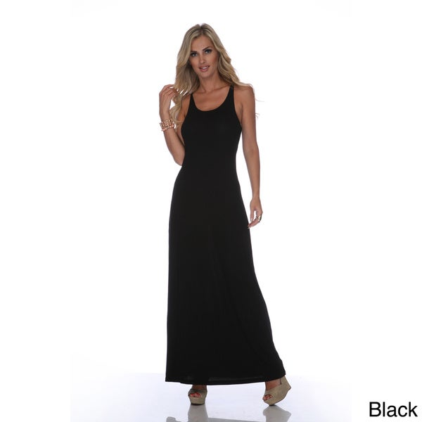 White Mark Women's 'Karin' Maxi Dress in Black (Large) (As Is Item)