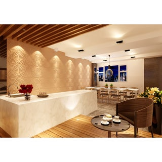 3D Contemporary Wall Panels Spiral Design (Pack of 10)