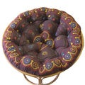 Celebration Papasan Suzani Crewel Chocolate Multi Cushion