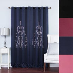 Chandelier Punch-out Design Blackout 84-inch Curtain Panel Pair