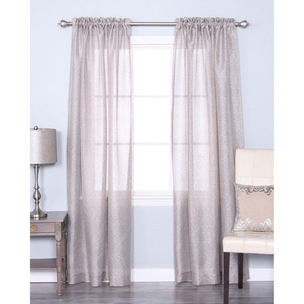 Lucerne 84 inch sheer curtain pair panel