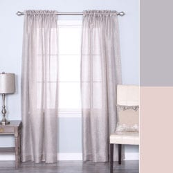 Venice Sheer Damask Rod Pocket 84-inch Curtain Panel Pair