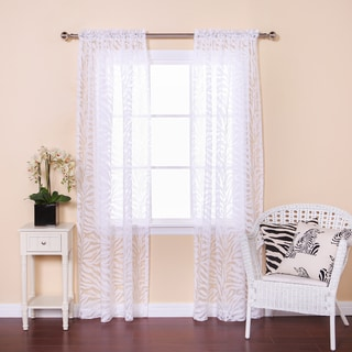 Zebra Burnout Sheer 84-inch Rod Pocket Curtain Pair