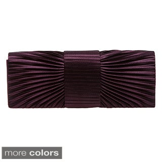 J. Furmani Pleated Satin Clutch