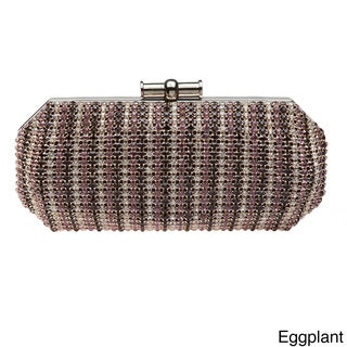 J. Furmani Multicolored Crystal Clutch