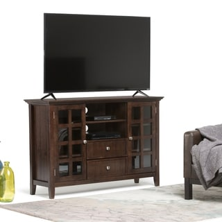 WYNDENHALL Normandy Collection Tobacco Brown Tall TV Media Stand