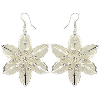 Kate Marie Silvertone Rhinestone 'Rona' Fashion Earrings