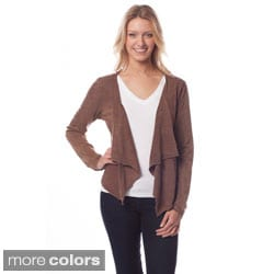 ATOZ COTTON RUFFLE FRONT OPEN CARDIGAN