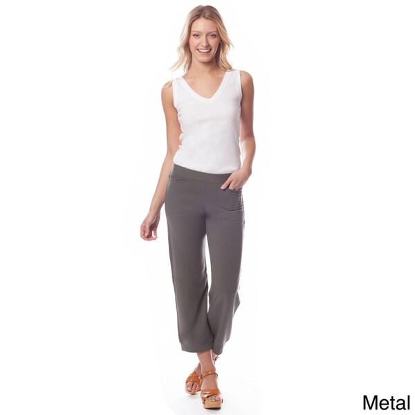 AtoZ Women's 'Michelle' Pull-on Crop Pants