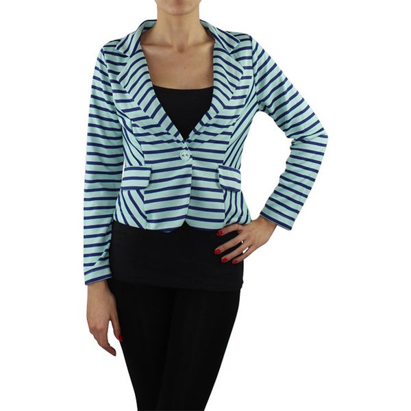 Women's Stripe Long Sleeve Blazer