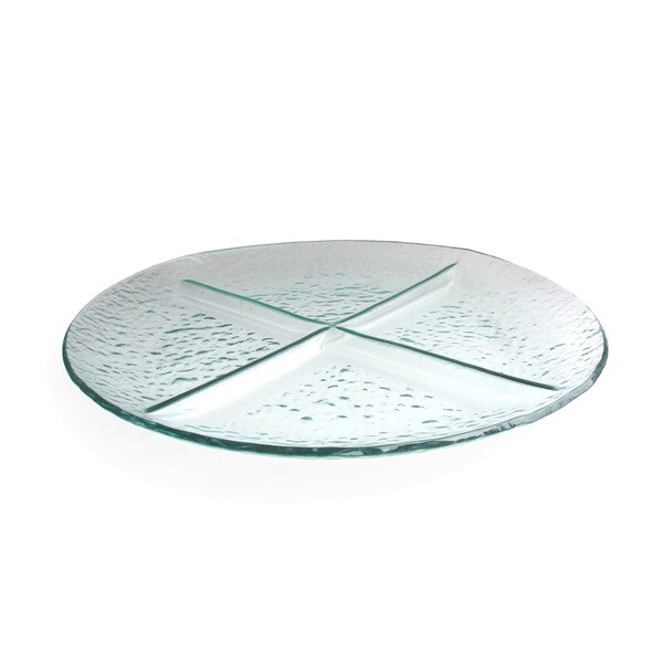 Crystal Clear 4-section Glass Server Tray