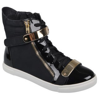 Journee Collection Women's 'Serena' Lace-up High Top Sneaker