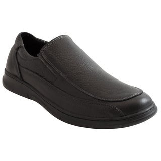 AdTec Men's Black Slip-on Comfort Shoes