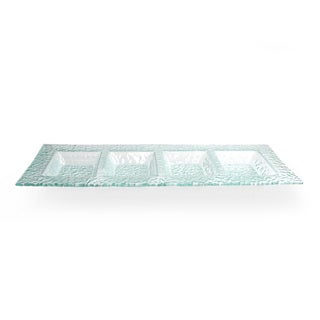 Crystal Clear 4-section Glass Server Plate