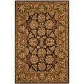 Safavieh Hand-made Anatolia Dark Brown/ Gold Wool Rug (4' x 6')