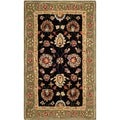 Safavieh Hand-made Anatolia Black/ Green Wool Rug (3' x 5')
