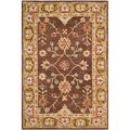 Safavieh Hand-made Anatolia Brown/ Gold Wool Rug (3' x 5')