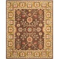 Safavieh Hand-made Anatolia Brown/ Gold Wool Rug (8' x 10')