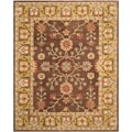Safavieh Hand-made Anatolia Brown/ Gold Wool Rug (9' x 12')