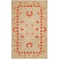 Safavieh Hand-made Anatolia Ivory/ Green Wool Rug (3' x 5')