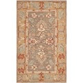 Safavieh Hand-made Anatolia Brown/ Camel Wool Rug (3' x 5')