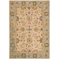 Safavieh Hand-made Anatolia Ivory/ Blue Wool Rug (3' x 5')