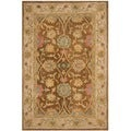 Safavieh Hand-made Anatolia Brown/ Ivory Wool Rug (3' x 5')