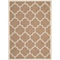 Safavieh Indoor/ Outdoor Courtyard Brown/ Bone Rug (4' x 5'7)