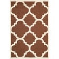 Safavieh Handmade Moroccan Cambridge Dark Brown/ Ivory Wool Rug (4' x 6')