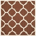 Safavieh Handmade Moroccan Cambridge Dark Brown/ Ivory Wool Rug (6' Square)