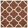 Safavieh Handmade Moroccan Cambridge Dark Brown/ Ivory Wool Rug (8' Square)