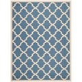 Safavieh Indoor/ Outdoor Courtyard Geometric-pattern Blue/ Beige Rug (5'3'' x 7'7'')