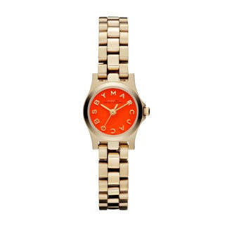 Marc Jacobs Women's MBM3202 'Henry Dinky' Orange Goldtone Watch