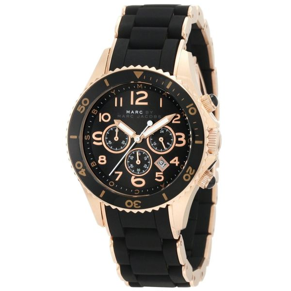 Marc Jacobs Women's 'Pelly' Black Dial Chronograph Watch
