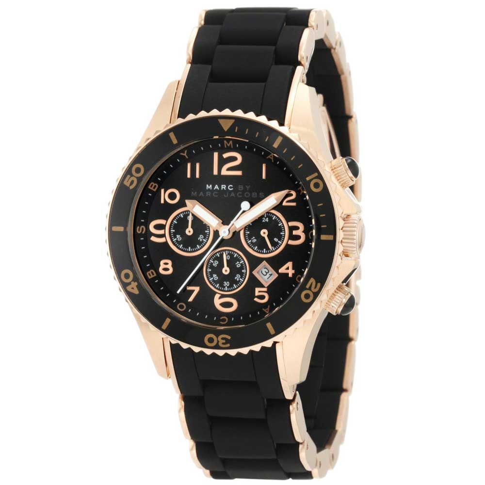 marc s pelly black chronograph
