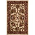 Safavieh Hand-made Classic Ivory/ Red Wool Rug (3' x 5')