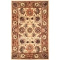Safavieh Hand-made Classic Ivory/ Red Wool Rug (2' x 3')