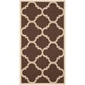 Small Safavieh Indoor/ Outdoor Courtyard Dark Brown Rug (2' x 3'7)