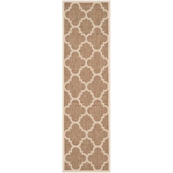 Safavieh Indoor/ Outdoor Courtyard Brown Rug (2'3 x 8')