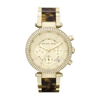 Michael Kors Women's MK5688 'Parker' Gold-Tone Crystal Accented Watch