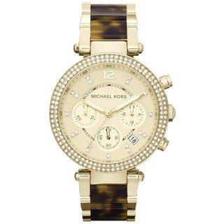Michael Kors Parker Goldtone Tortoise Glitz MK5688 Watch