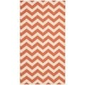 Safavieh Indoor/ Outdoor Courtyard Terracotta/ Beige Rug (2'7 x 5')